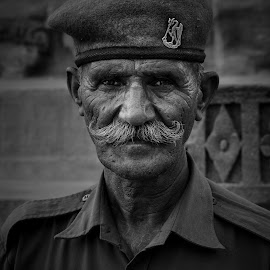 Jodhpur by Will Thierbach - People Portraits of Men ( blackandwhite, colorful, woman, f8 workshop, india, holi, bnw, jodhpur, portrait )
