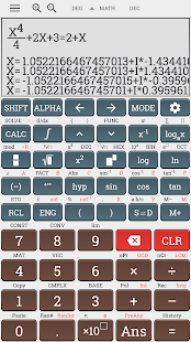 Algebra scientific calculator 991 ms plus 100 ms Screenshot