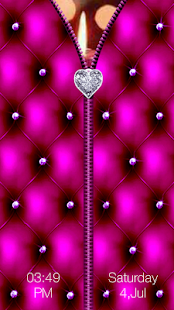 Diamond Heart Zipper Lock - screenshot