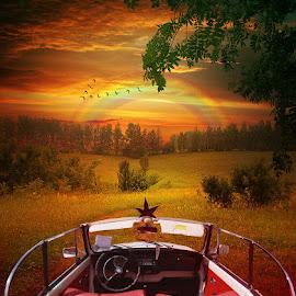 vw by Ugur Volkans - Transportation Automobiles ( car, vw, auto, rainbow )