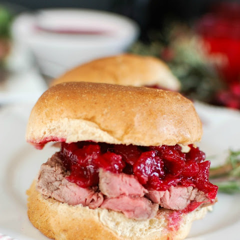 Beef Tenderloin Sliders with Cranberry Orange Relish
