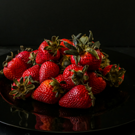 Still Life by Nancy Merolle - Food & Drink Fruits & Vegetables ( fruit, still life, strawberries, artistic object, fruit bowl )
