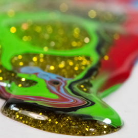 Painted Flakes by Robert George - Abstract Macro (  )