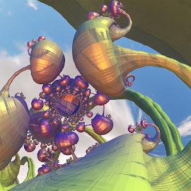 by Tamara Violeta - Illustration Sci Fi & Fantasy ( dreamy, futuristic, landscape )