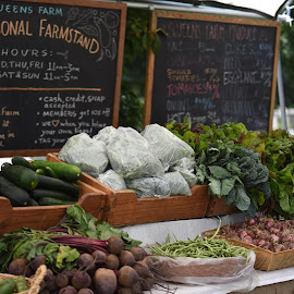 At the Farm Stand  by Lorraine D.  Heaney - City,  Street & Park  Markets & Shops