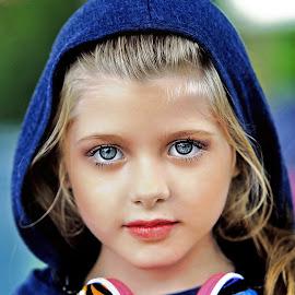 The blue hood by Sylvester Fourroux - Babies & Children Child Portraits