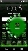 Screenshot of Next Launcher MilitaryG Theme