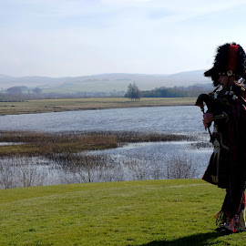 Scottish wedding by Shona McQuilken - Wedding Other ( scotland, bagpipes, wedding, loch, piper )