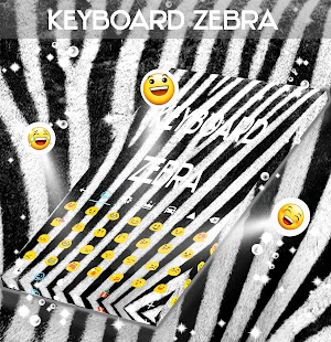 GO Keyboard Zebra Print Theme - screenshot