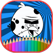 Download How To color Angry birds kids coloring game APK on PC