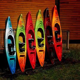 End of the Season by Helen Bradshaw - Transportation Boats