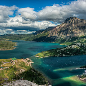 Waterton by Walter Hsiao - Landscapes Waterscapes ( clouds, alberta, canada, waterton, bear's hump, waterton lakes, prince of wales hotel )