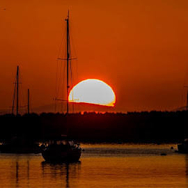 Findhorn Sunset  by Gordon Bain - Landscapes Sunsets & Sunrises ( findhorn, sunset, scotland . )
