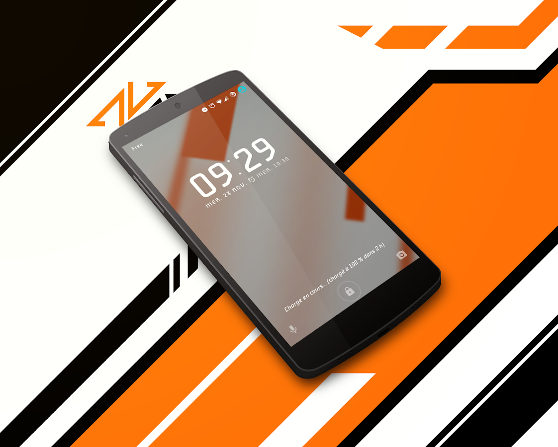 Asiimov Dark CM13 CM12 Theme Screenshot 1