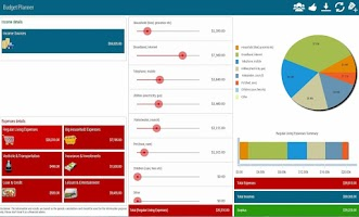 Screenshot of Budget Planner Pro