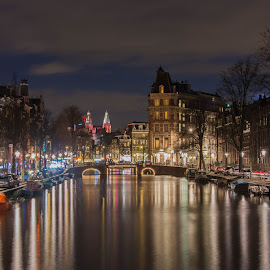 Amazing Amsterdam  by Marcel Eringaard - City,  Street & Park  Street Scenes ( nikonshooter, night photography, nightlights, amsterdam photographer, amsterdam, street scenes, netherlands, street photography, marz photography, nightscape,  )