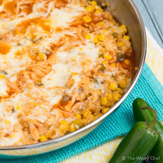 Pantry Enchilada Chicken Skillet