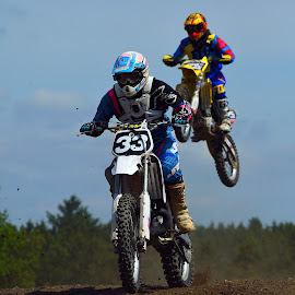 Air Back ! by Marco Bertamé - Sports & Fitness Motorsports ( two, motocross, clump, dust, 33, number, race, thirty-three, jump )