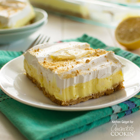 Lemon Cheesecake Pudding Dessert