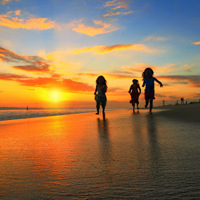 Sunset Race by Alit  Apriyana - Babies & Children Children Candids