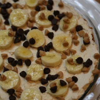 No Bake Peanut Butter Banana Pie Recipe as celebrate #PYREX100