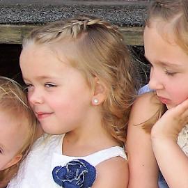 Three Adorable Sisters by Cheryl Korotky - Babies & Children Child Portraits