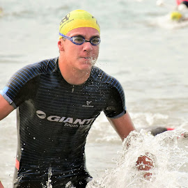 Singapore Triathlon 2017 by Chin KK - Sports & Fitness Watersports ( bubbles, sea, men, daylight, swimming,  )