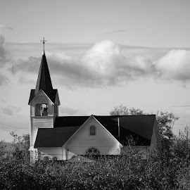 Conway Lutheran  by Todd Reynolds - Black & White Buildings & Architecture