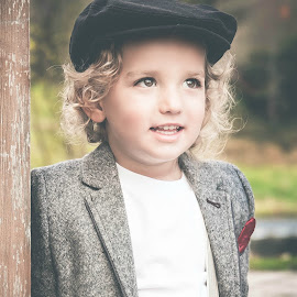 Jax's Hat by Jenny Hammer - Babies & Children Child Portraits ( child, outdoor, cute, boy, portrait, hat )