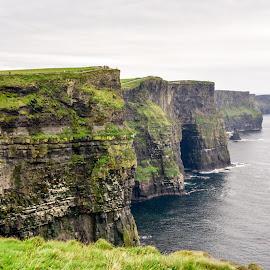 Cliffs of Moher by Bill Telkamp - Landscapes Waterscapes ( landmark, cliffs, waterscape, feature, seascape )