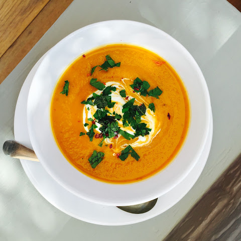 Moroccan Spiced Roast Vegetable Soup