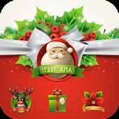 Free Merry Christmas Bow theme 3D APK for Windows 8
