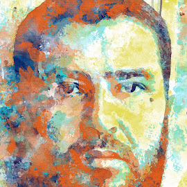 Painting Me by SiMohamed Achamrar - Digital Art People ( face, digital art, people, painting, portrait, mohamed achamrar )