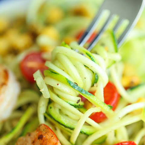 Shrimp and Zucchini Noodles
