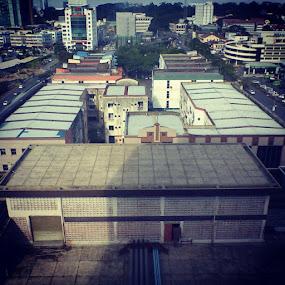 Wisma satok cooling tower by Shoox De LightPainter - Instagram & Mobile Instagram