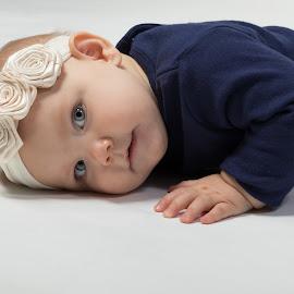 Resting by Todd Wallarab - Babies & Children Toddlers ( girl, blue, tired, baby, sleep, hair, eyes )
