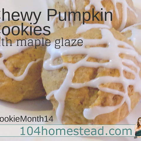Chewy Pumpkin Cookies with Maple Icing