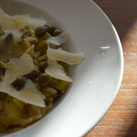Orzo with Leek and Salsify