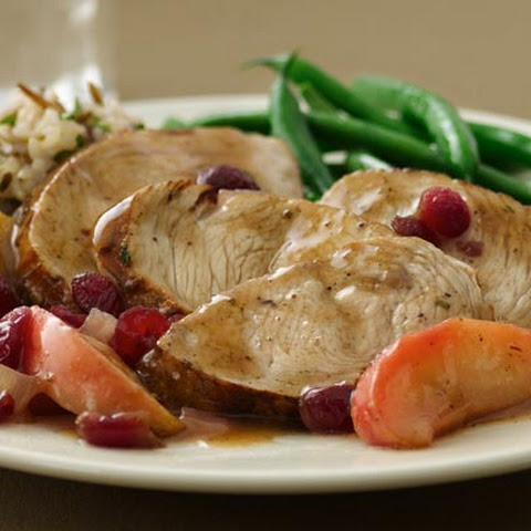 Pan Seared Turkey Medallions with Apple Cranberry Glaze