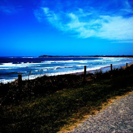 my bike trail along the ocast by Martha Petrokehagias - Landscapes Beaches