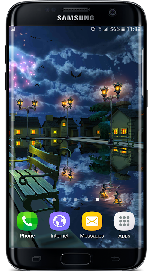 Cartoon Night Live Wallpaper Screenshot 2