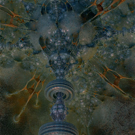 Gyration Climb by Rick Eskridge - Illustration Sci Fi & Fantasy ( fantasy, mb3d, fractal, twisted brush, thing )