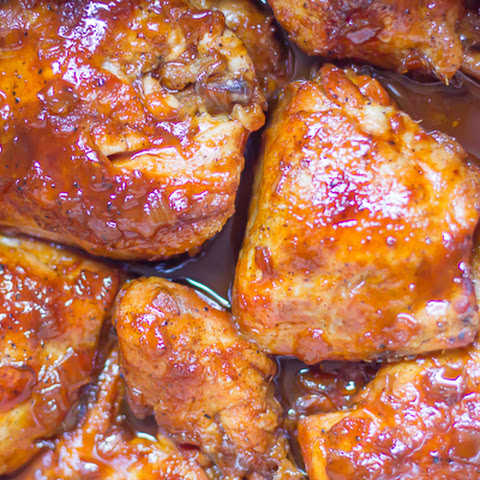 Bourbon Apricot BBQ Chicken