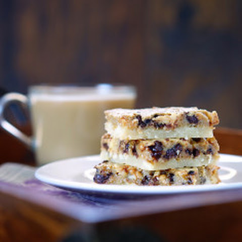 Espresso Chocolate Toffee Almond Shortbread Bars