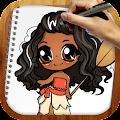 Draw Moana