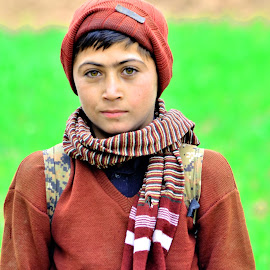 The scool boy by AttaUllah Jan KhanXada AK - People Portraits of Men