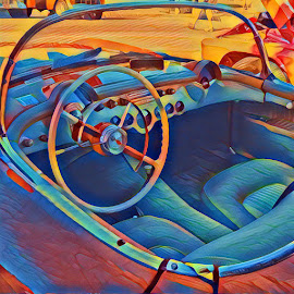Crayon Corvette by Johnny Knight - Novices Only Objects & Still Life ( car, interior, color, vehicle, artistic )