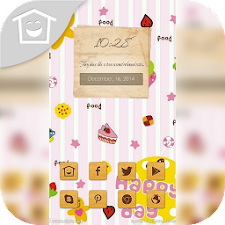 Cute colorful cartoon theme