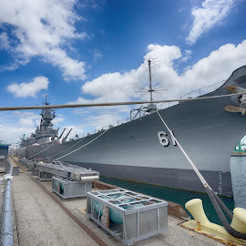 USS IOWA by Jose Matutina - Transportation Automobiles ( history, sonya7ii, california, san pedro, los angeles, sel1635z, historical, united states, uss iowa )