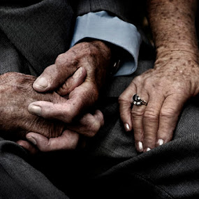 grandparents hands during wedding ceremony by Kira Likhterova - Wedding Details